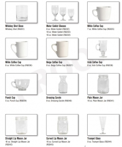 Glassware Gallery, Catering Equipment Gallery