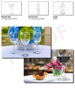 Glass and other Event Equipment by G Texas Catering