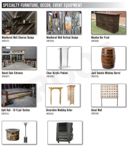 Specialty Furniture Decor, Event Equipment By one of best Dallas Caterer (G Texas Catering )